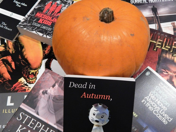 pumpkin and books enhanced